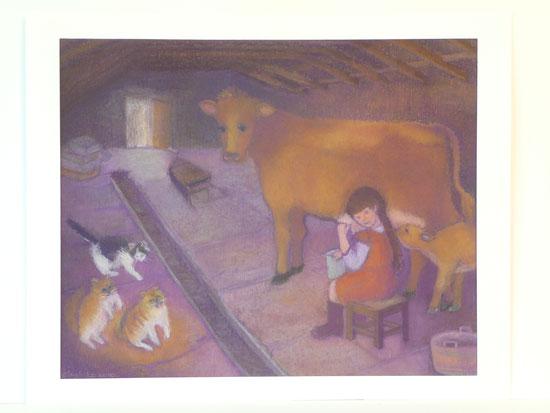 Milking time 42.5cmx52.5cm