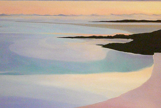 Sunset on the Isle of Harris 50x80cm
