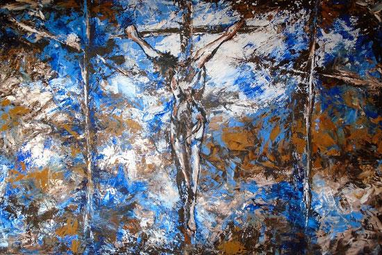 Golgatha - Öl / Acryl auf Leinwand 100 x 150