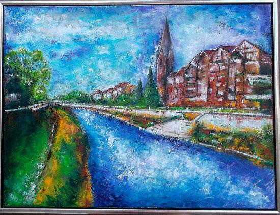 Lünen - Öl / Acryl auf Leinwand - 50 x 60