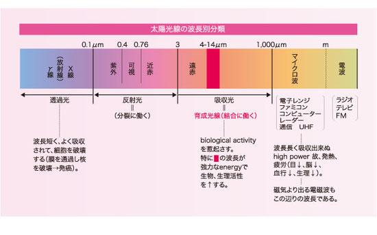 太陽光線の波長別分類