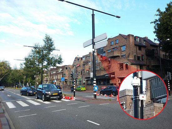 街灯に設置されたIoTゲートウェイ