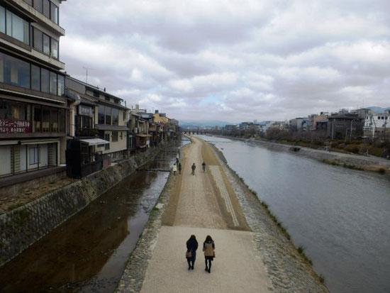 数年前にいった京都の鴨川