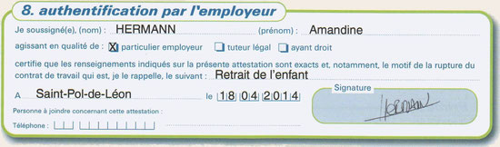 L Attestation Pole Emploi Didy Family Assistante Maternelle
