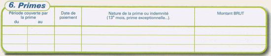 Primes (cadre 6)