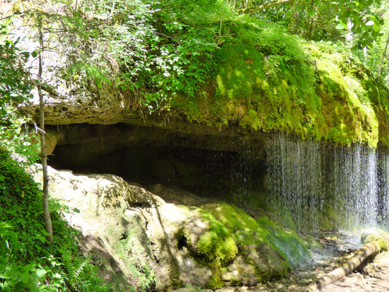 Wasserfall in  der Wutachschlucht