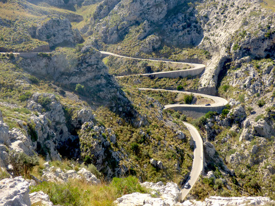 Serpentinenstrecke nach Sa Calobra