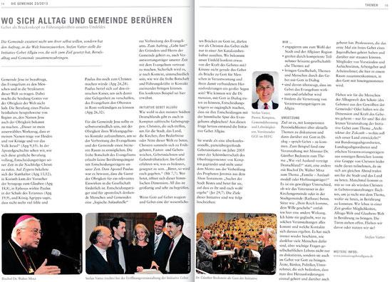 Zeitschrift: Die Gemeinde 23/2013 - bitte auf Bild klicken zum vergrößern