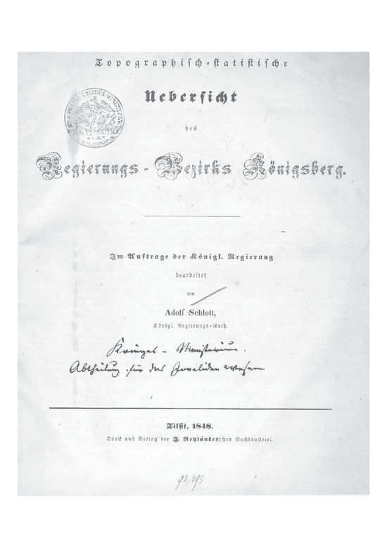 Regierungsbezirk Königsberg 1848