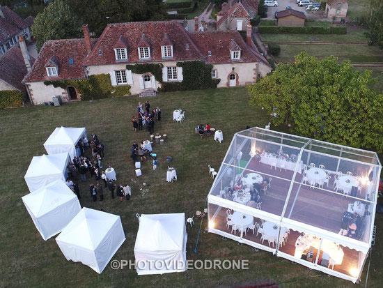 Photo et vidéo de mariage en drone à Moulins Montluçon Vichy Allier Auvergne -Photovideodrone