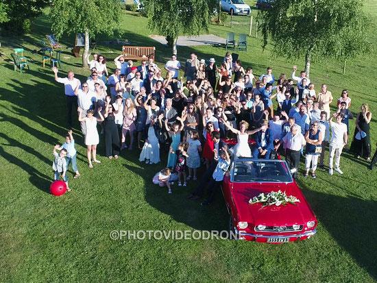Photo et vidéo de mariage en drone à Thiers Ambert Saint-Yorre Auvergne -Photovideodrone