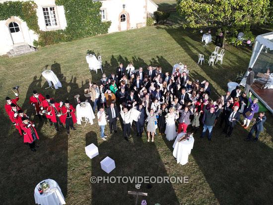 Photo et vidéo de mariage en drone à Riom Clermont-Ferrand Auvergne -Photovideodrone