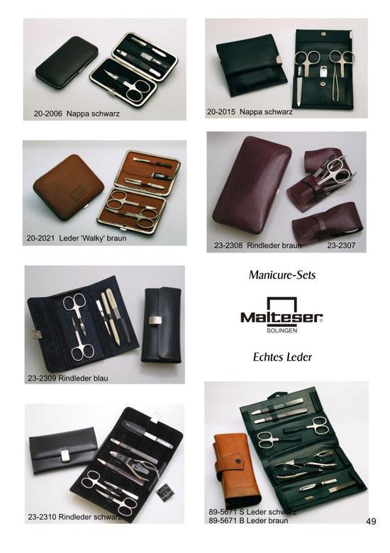 Katalogseite 49 mit Abbildungen Maniküre Etuis / Manicure-Sets / Trousses de manicure