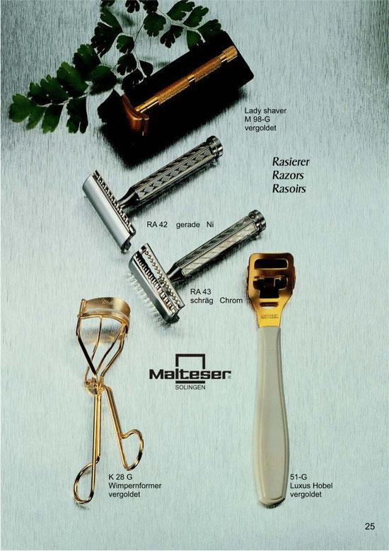 Katalogseite 25 mit Abbildungen von Kosmetik Instrumente / Cosmetic Instruments / Instruments Cosmétique