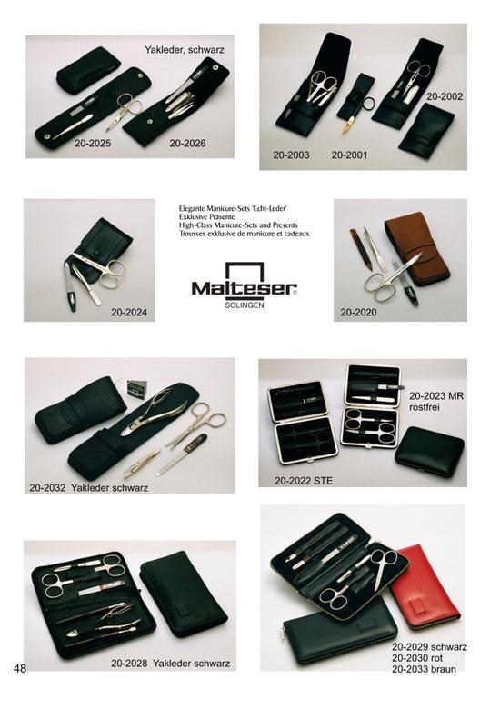 Katalogseite 48 mit Abbildungen von Maniküre Etuis / Manicure-Sets / Trousses de manicure