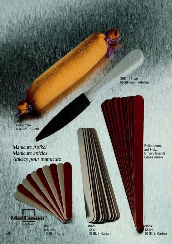 Katalogseite 24 mit Abbildungen von Maniküre Artikel / Manicure articles / Articles pour manucure