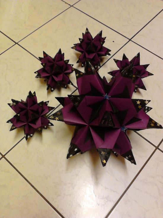 Bascetta Sterne lila - anthrazit