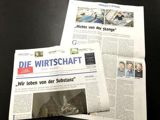 Übernahme und Entwicklung unserer Druckerei Satzdruck im Münsterland – Bericht i der Wirtschaft Münsterland