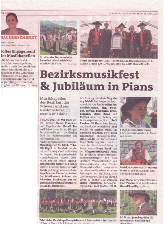 Bezirksblätter Landeck, 09./10. Juli 2014