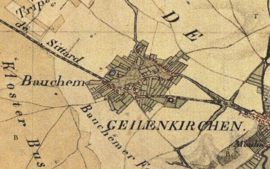 Bauchem auf der Tranchotkarte 1803–1820