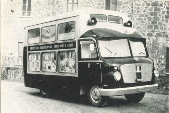 Il centro mobile di lettura (o bibliobus) in funzione nella provincia di Perugia dal 1955.