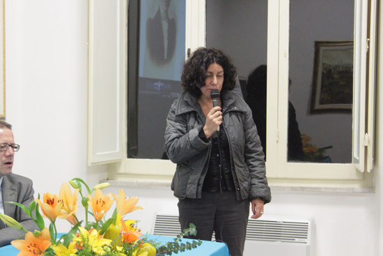 L'intervento della dott.ssa Anna Angelica Fabiani della Soprintendenza archivistica.