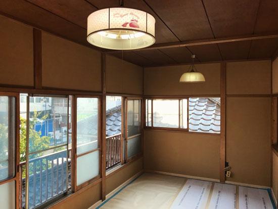 とても陽当たりの良い和室になります。