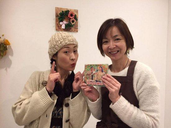 茶のみすず、森田店長ありがとうございました♪(^^♪(右)来春もタンク☆ポップライブをやるとの表明も!!