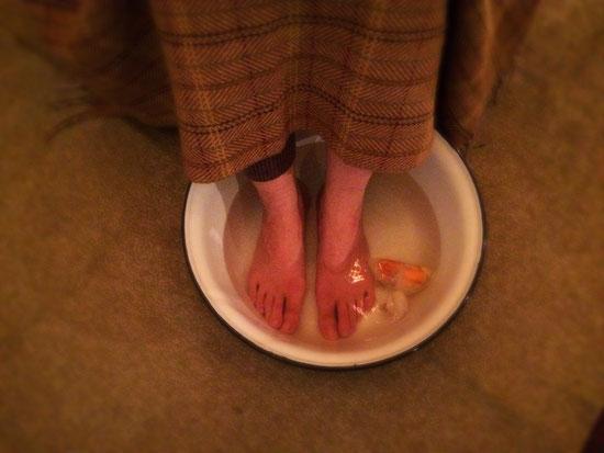 みかんの足湯があったか~~~い♪(#^.^#)