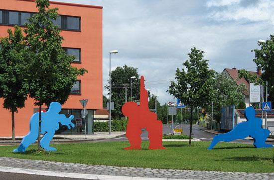 Corporate Art / Kunst für Unternehmen - SAPRI, Kreisel Stadt Erbach