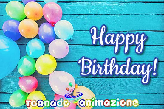palloncini con scritta happy birthday per feste bambini in inglese