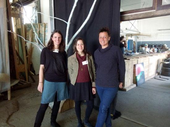 Das S.O.F.-Team (Kathrin Doil, Magdalena Blender) mit Stevie Engelbrecht (Minitopia)