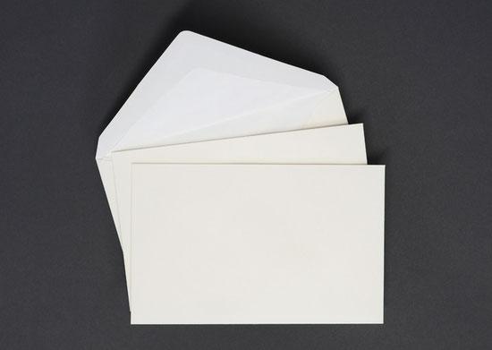 Briefhülle Danksagung mit Futter