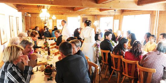 Hochzeit in den Bergen Restaurant Koernlisegg