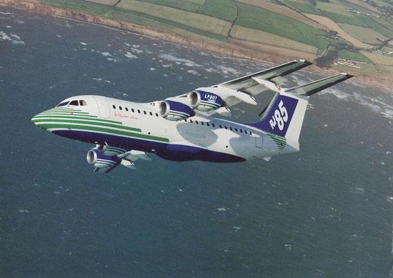 Die RJ85 kam bei einer Reihe von europäischen Fluggesellschaften erfolgreich zum Einsatz/Courtesy: British Aerospace