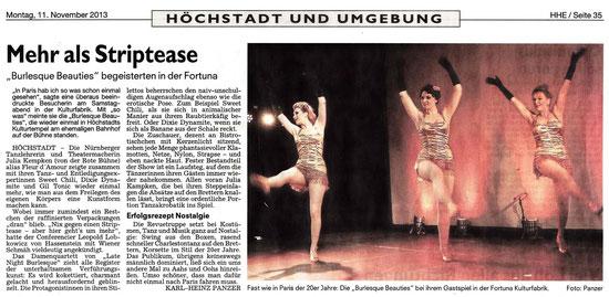 Nürnberger Nachrichten, 11.11.13