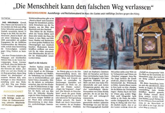 veröffentlicht in der Allgemeinen Zeitung Bad Kreuznach