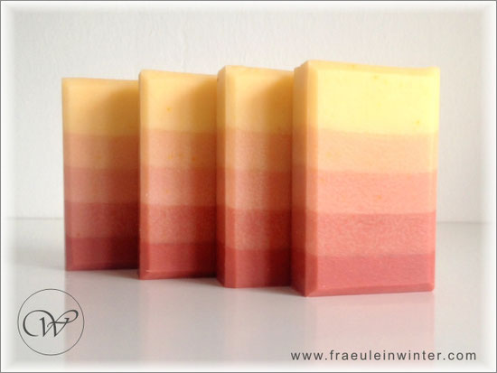 "Seife ""Annatto-Rose"" - colour gradient - handmade soap"