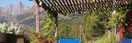 La terrasse du gîte de Rouze