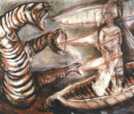 Les Voix / 1999-2000 / Tempera sur toile / 140x150 cm