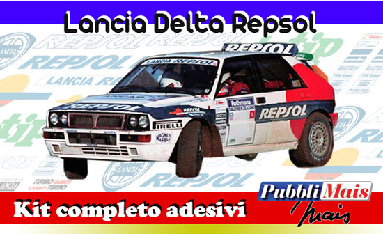 lancia delta evolution evo repsol sainz jolly club milano pubblimais full sticker livery decal sponsor 1993 shop totip