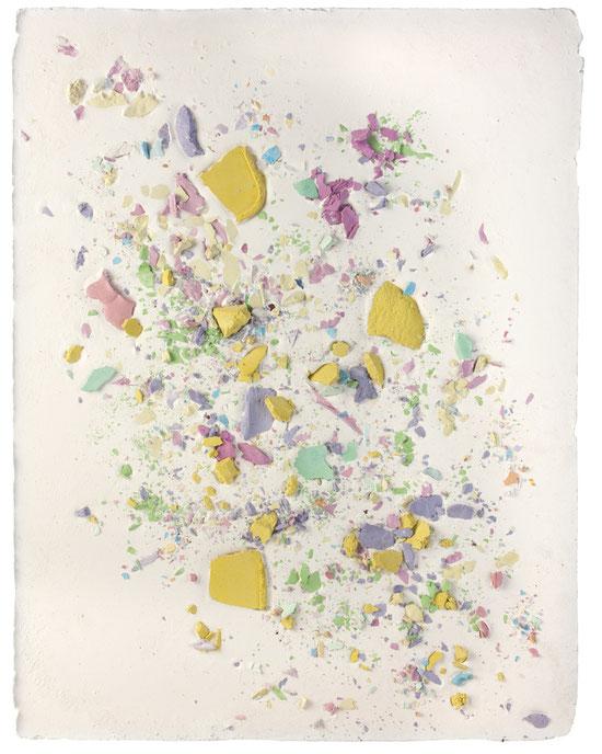 Plaster Painting #10, 2016, pigmented plaster on plaster, 52x40cm  Foto: Anna Lott Donadel