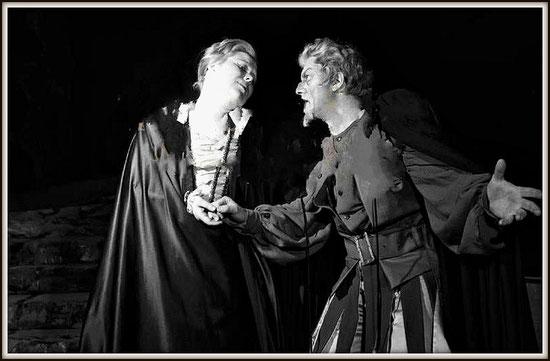 RIGOLETTO - (Ruolo del titolo) - con Renata Scotto - Milano Teatro alla Scala 10.4.1962