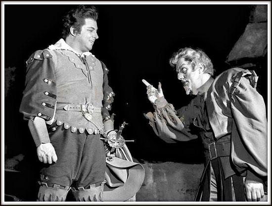 RIGOLETTO - (Ruolo del titolo) - con Gianni Raimondi - Milano Teatro alla Scala 10.4.1962
