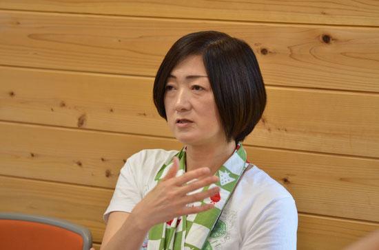 塾生に、熱心に語りかける田口ひろみ所長
