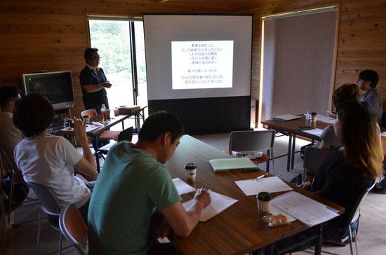 吉澤事務局長は、移住後の、筆甫小学校での講師時代ヤギをかっており、あだ名は「ヤギ先生」