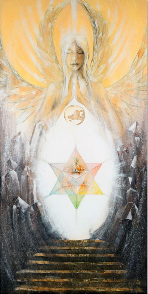 Große Wandbilder, Christus Lichttor, Leinwandbilder, Kunstdruck, Poster, Kristall-Engel