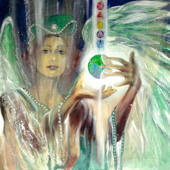 Engelbilder, Erzengel Uriel,  spirituelle Malerei, Leinwandbilder, Poster, Wandbilder gemalt