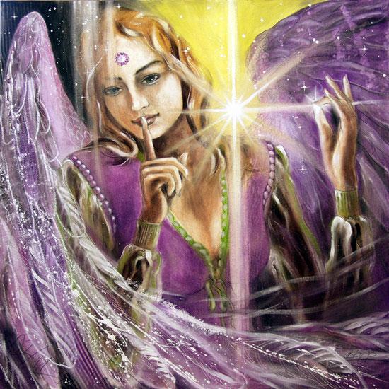 Erzengel Samuel, Engelbilder, spirituelle Malerei, Leinwandbilder, Poster, Wandbilder, Intuition