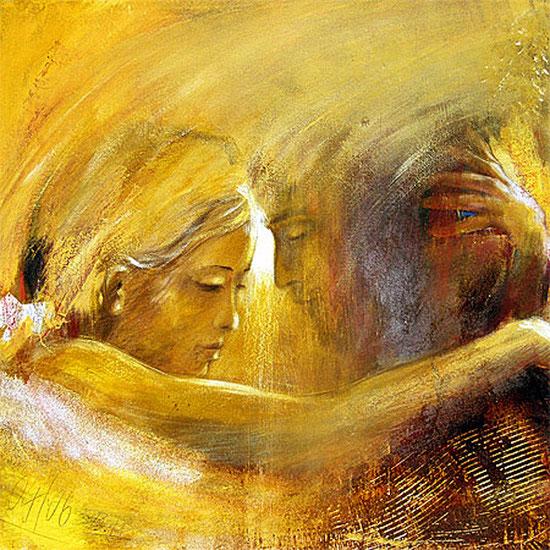 Engelbild, Engel der Verbindung, gemalt, spirituelle Bilder, Leinwandbilder, Kunstdrucke, Poster